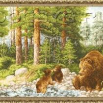 схема вышивки Медведи