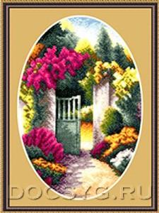 схема вышивки Садовая калитка