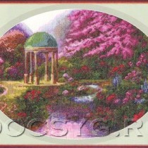 схема вышивки В цветочной дымке