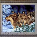 схема вышивки Волчий взгляд