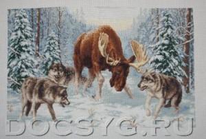 схема вышивки Встреча в лесу