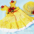 желтое платье и шляпка для девочки
