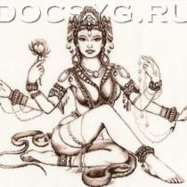 схема вышивки Мифы Индии