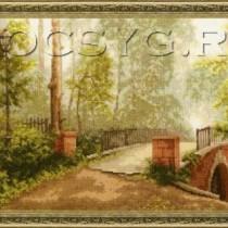 схема вышивки Мост в старом парке