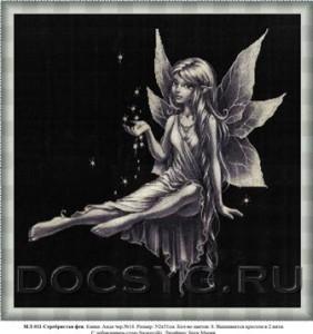 схема вышивки Серебристая фея