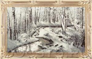 схема вышивки Снежная сказка