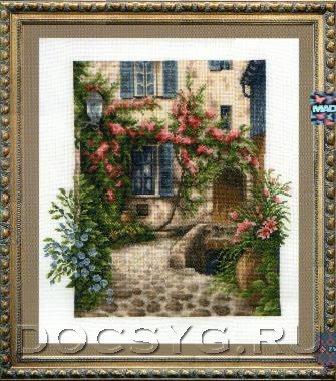 Схемы вышивки двориков