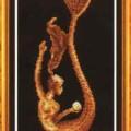 схема вышивки Девушка-русалка