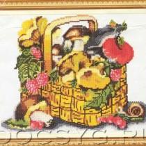 схема вышивки Грибы и ягоды