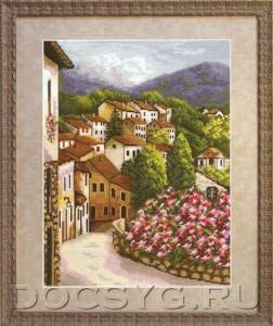 схема вышивки Испанские улочки