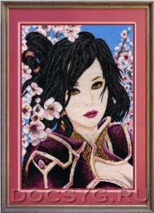 схема вышивки Китаянка