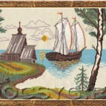 схема вышивки Русский север