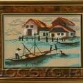 схема вышивки Рыбацкая деревня