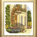 схема вышивки Цветочный подъезд
