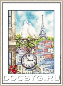 схема вышивки Весна в Париже