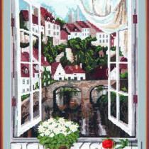 схема вышивки Вид из окна