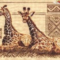 схема вышивки Жирафы