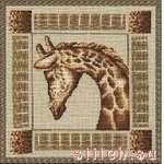 схема вышивки Застенчивый жираф