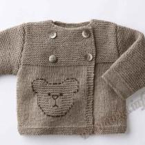 Кофточка для малышей, вязанная спицами