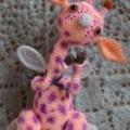 жирафик вязанный крючком