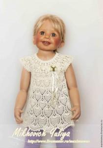 ажурное платье-туника для девочки