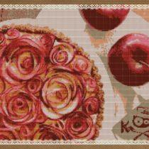 Розы из красных яблок на десерт