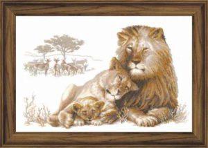 Схема вышивки Львиный рай