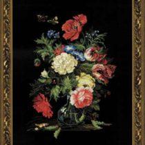 Схема вышивки Цветы в вазе