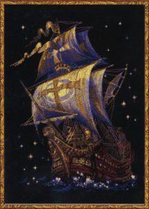 Схема вышивки Корабль