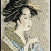 Схема вышивки Японка