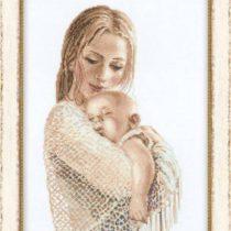 Нежная схема вышивки Мать и дитя