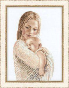 Схема вышивки Мать и дитя