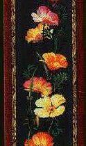Необычная схема вышивки Цветы мака