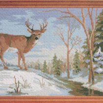 Схема вышивки Зимний олень