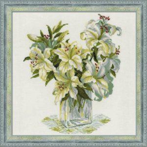 Схема вышивки Белые лилии