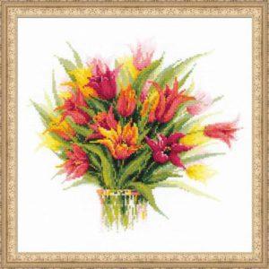 Схема вышивки Тюльпаны в вазе
