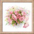 Нежная схема вышивки Букет роз