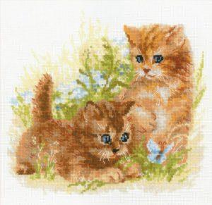 Схема вышивки Рыжие котята