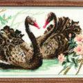 Схема вышивки Черные лебеди
