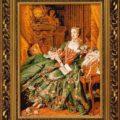 Потрясающая схема вышивки Мадам