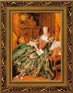 Схема вышивки Мадам