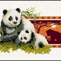 Схема вышивки Панды