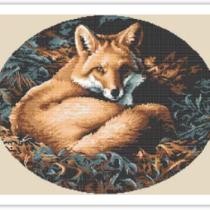 Схема вышивки Лиса