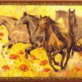 Схема вышивки Табун лошадей