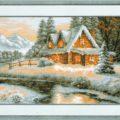 Схема вышивки Зимний пейзаж