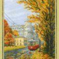 Схема вышивки Трамвай