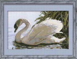 Схема вышивки Белый лебедь