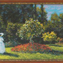 Схема вышивки Дама в саду