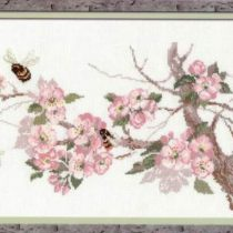 Схема вышивки Ветка яблони