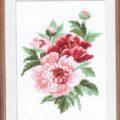 Схема вышивки Розовый пион